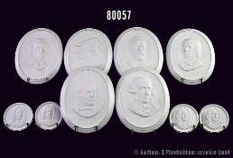Konv. Rosenthal Porzellan, 9 Wandreliefs, Classic Rose, Tschaikowsky, Schumann, Wagner, Schubert,