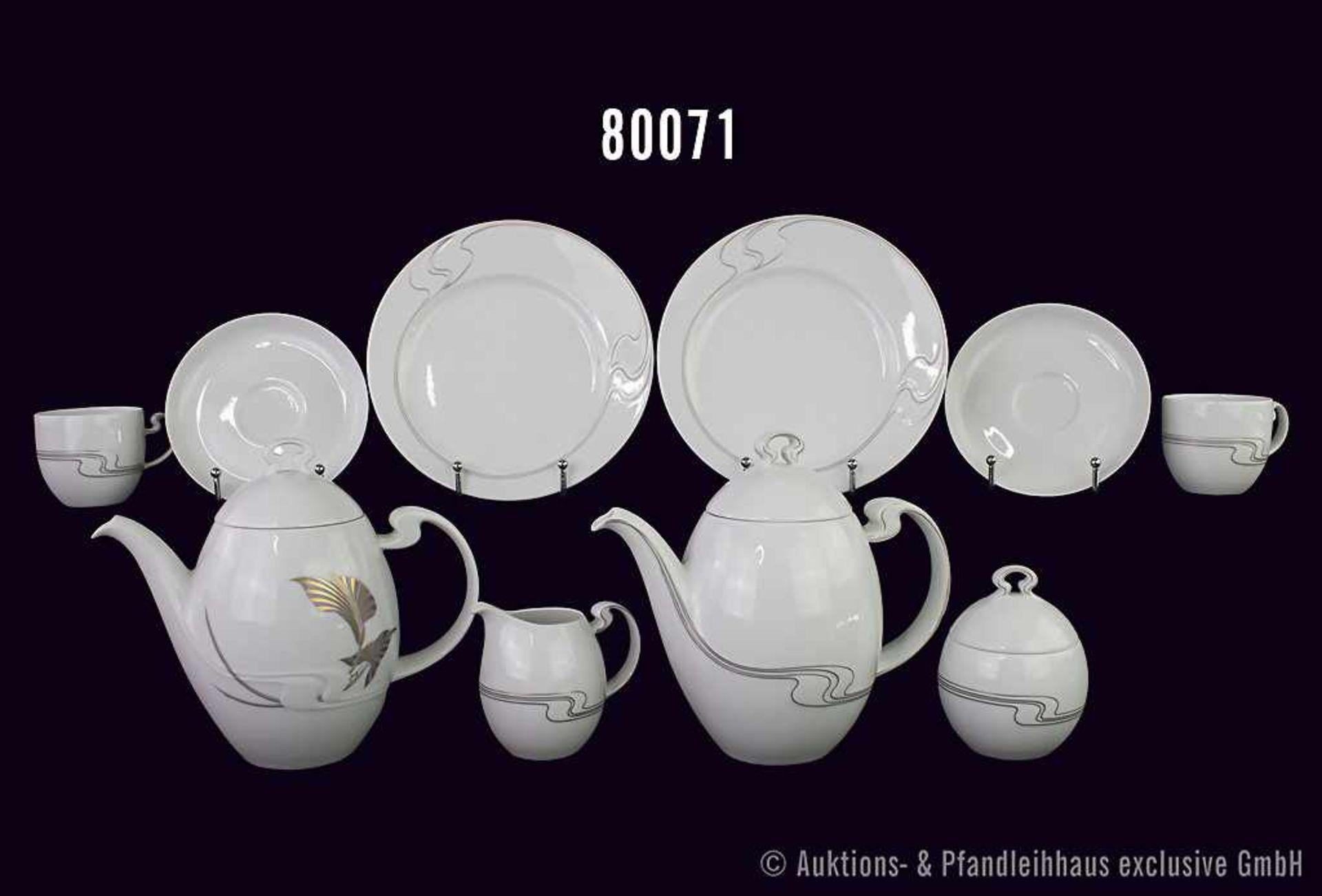 Konv. 23 Teile Rosenthal Porzellan, dabei Kaffee-Service mit 1 Kaffeekanne, 1 Zuckerdose, 1