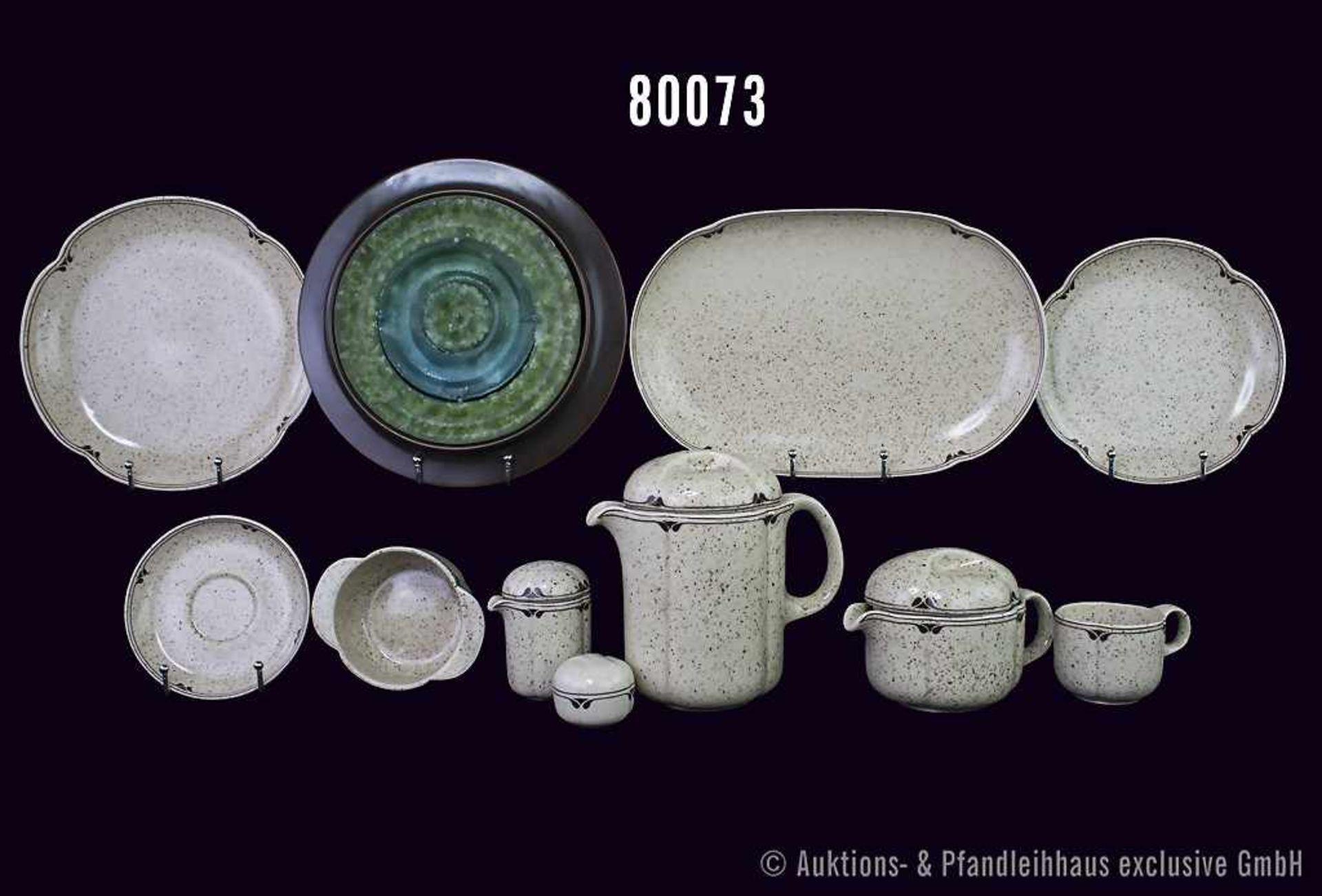 Konv. 44 Teile Rosenthal Porzellan, Ess- und Kaffee-Service, Form Terra Campagna, Dekor Steingut,