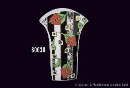 Rosenthal Porzellan Vase, studio-linie, gemarkt 4149/32, H 32 cm, Vorder- und Rückseite mit Dekor,