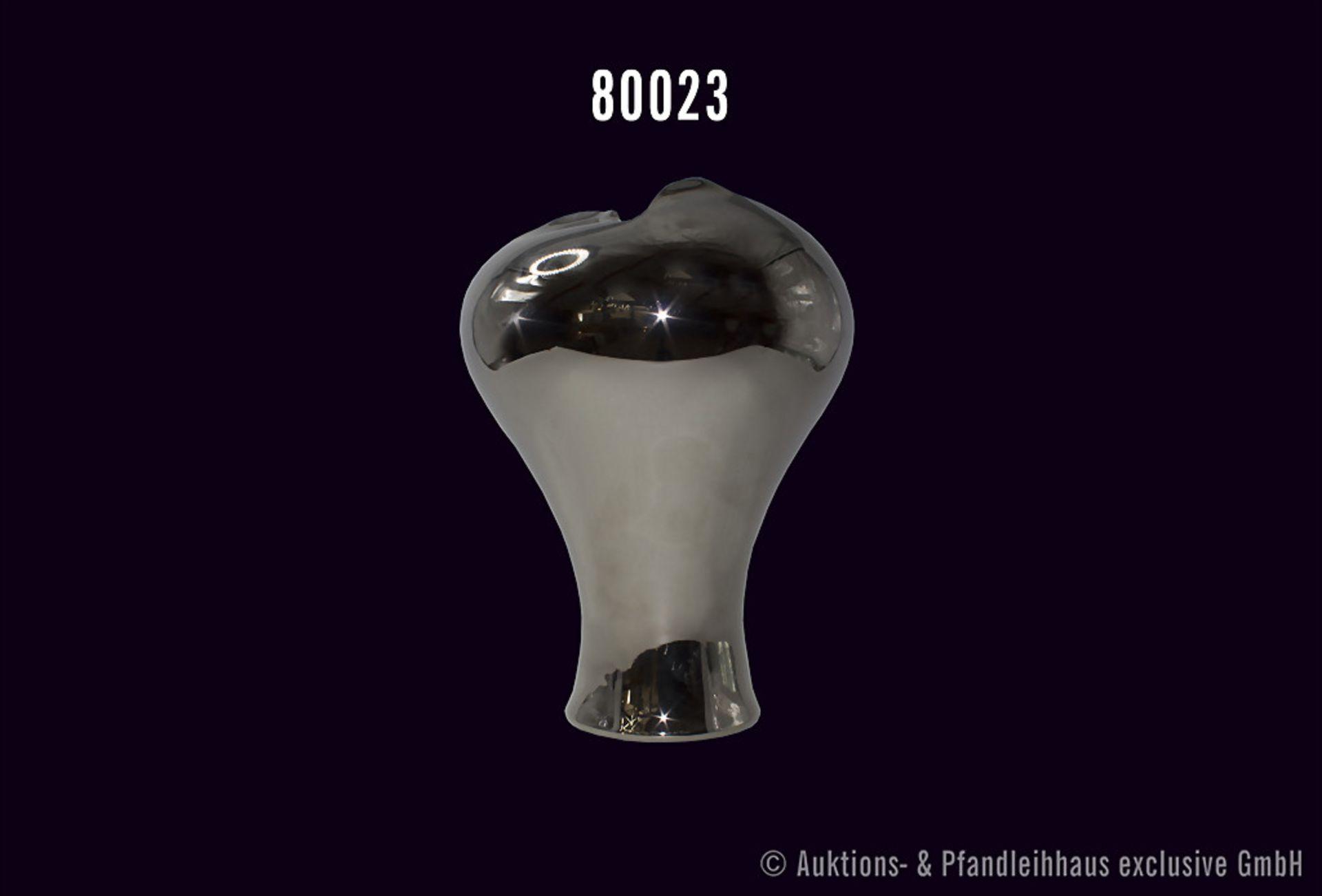 """Rosenthal Vase, studio-linie """"little wonder"""", Platin verspiegelt, H 33 cm, 2. Wahl, sehr guter"""