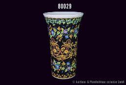 """Rosenthal Porzellan Vase, """"VERSACE"""", Gold Ivy, H 34 cm, sehr guter Zustand, siehe Anmerkung vor Text"""