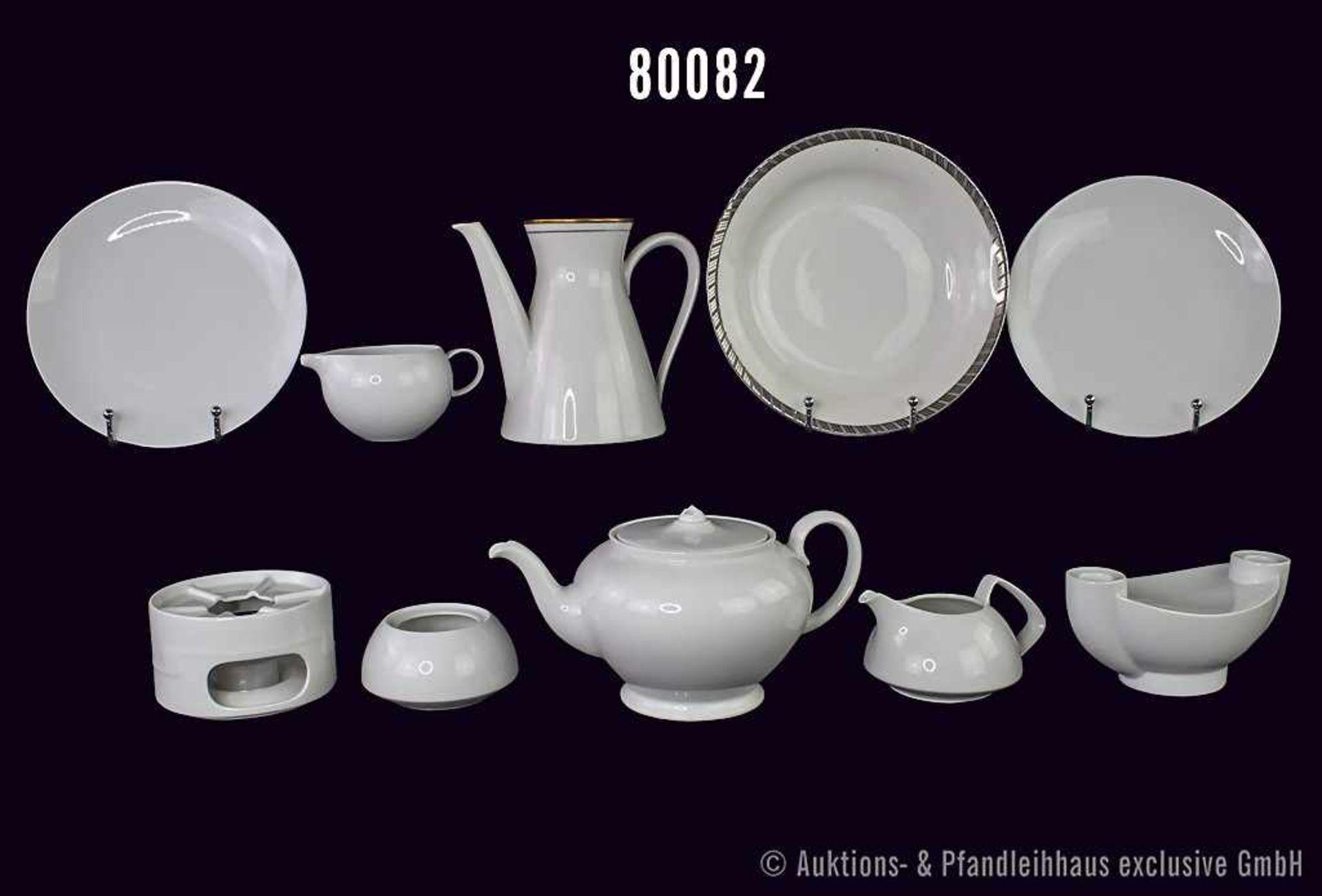 Konv. 19 Ersatzteile Rosenthal Porzellan, versch. Dekore, versch. Formen, u. a. TAC, dabei