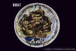 """Rosenthal Porzellan Künstlerteller Nr. 12, Salvatore Dali, """"Alles fängt beim Mund an und sucht"""