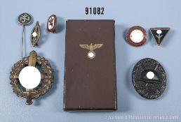 Konv. 3. Reich, Etui zur NSDAP-Dienstauszeichnung in Bronze, Inlet fehlt, VWA Schwarz, SA-
