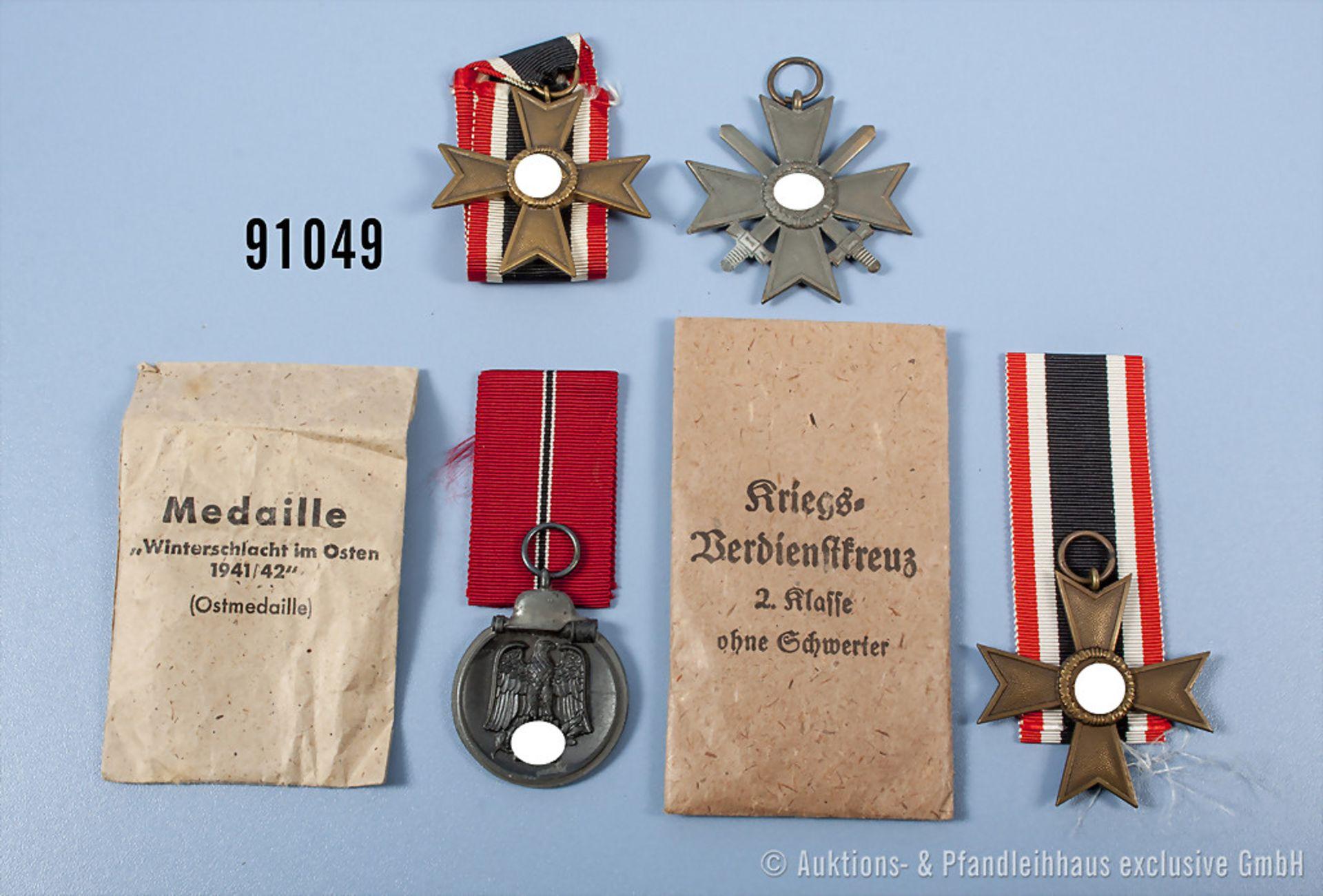 Konv. 3 KVK 2. Klasse, 1 x mit Schwertern und 2 x ohne Schwerter, davon 1 x mit Verleihungstüte