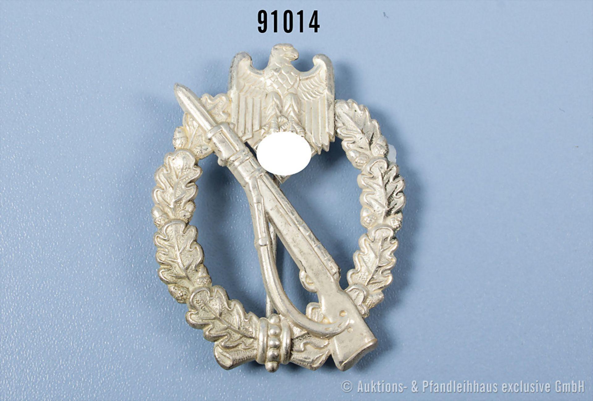 Infanterie-Sturmabzeichen in Silber, hohle Buntmetallausf., guter Zustand