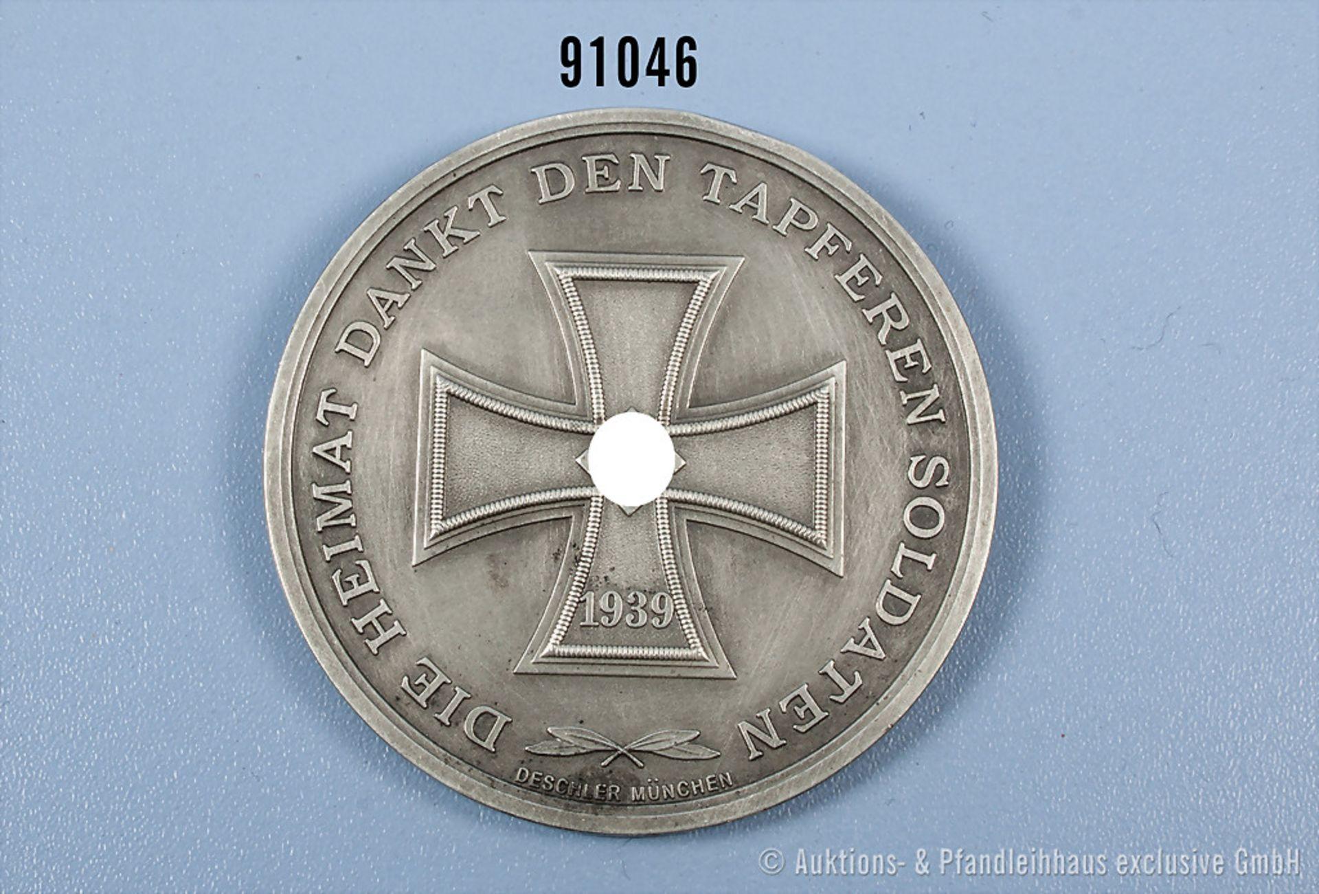 """Medaille 2. WK """"Panzergrenadier-Division Großdeutschland"""", rückseitig EK-Motiv und """"Die Heimat dankt - Bild 2 aus 2"""