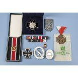 1957er Ordensnachlass des Trägers der Ehrenblattspange des Heeres Haumptmann Gerhard Erler,