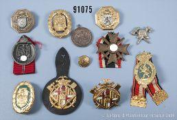 Konv. Ostmedaille und KVK 2. Klasse mit Schwertern sowie 10 überwiegend versch.