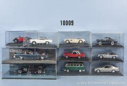 Konv. 10 Minichamps Modellfahrzeuge Oldtimer, Metallausf., M 1:43, sehr guter Zustand in original