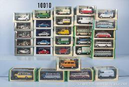 "Konv. 30 Atlas Modellfahrzeuge ""Bus Collection"" und ""Legendäre Nutzfahrzeuge"", u. a. Omnibusse,"