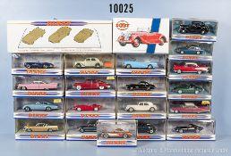 """Konv. 23 Matchbox """"Dinky Collection"""" Modellfahrzeuge, dabei Oldtimer und Sportwagen, Metallausf.,"""