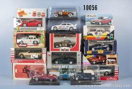 Konv. 16 Modellfahrzeuge, dabei Sportwagen, Oldtimer usw., lack. Metallausf., M 1:24 bis 1:32,