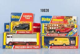 Konv. 4 Dinky Toys Modellfahrzeuge, dabei 267, 284, 417 und 940, Metallausf., M 1:43, sehr guter