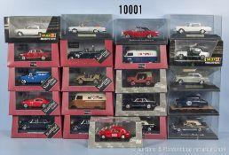 Konv. 21 Modellfahrzeuge, 13 x Starline Models und 8 x Faller Memory Cars, dabei Oldtimer,