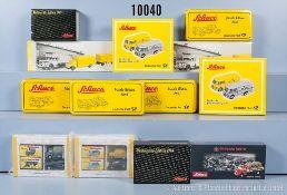 Konv. 27 Schuco Piccolo Fahrzeuge in 14 Set-Packungen, u. a. Nr. 6731, 1292, 1422, 3 x 6723, 6259,