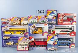 Konv. 16 Siku Modellfahrzeuge, u. a. 1059, 1331, 2221, 2529, 3121 usw., Metallausf., M ca. 1:55,