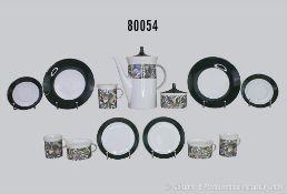 Konv. 31 Teile Rosenthal Porzellan, Kaffeeservice, Korso 4043, Designer Cuno Fischer, dabei