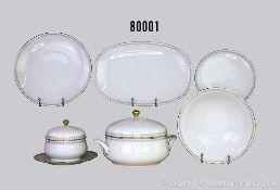 Konv. 22 Teile Hutschenreuther Porzellan Speise-Sevice, dabei 6 Essteller, 6 Suppenteller, 6