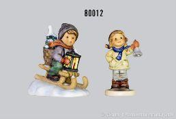 """Konv. 2 Goebel Hummel Figuren, dabei 396/2/0 """"Fahrt in die Weihnacht"""", H 11 cm und 2073/A """"Kling"""
