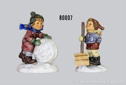 """Konv. Goebel Hummel Figuren """"Winterzauber"""", dabei 2035 """"Mei, ist die schwer"""" und 2036 """"Hoffentlich"""