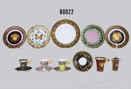 "Konv. 14 Teile Rosenthal Porzellan, ""VERSAGE"" dabei 4 Dessertteller, 1 großer Teller, 1"