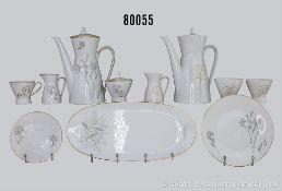 Konv. 27 Teile Rosenthal Porzellan, Form 2000, dabei 7 x Dekor Continental Gold Accord, Milchgießer,