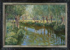 Vaclav RADIMSKY (1887-1946) - Epte - Huile sur toile signée en bas à gauche - 54 x [...]