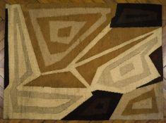 Costa COULENTIANOS (1918- 1995) - Composition - Tapisserie monogrammée et [...]