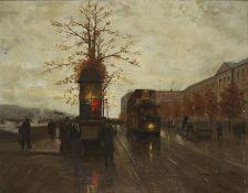 Edouard CORTES (1882-1969) -, Le Quai du Louvre vers le pont des Arts - Huile sur [...]