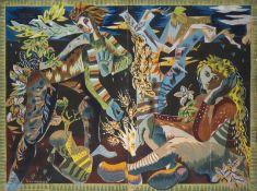 Theo TOBIASSE (1927-2012) - Personnage dans un paysage - Gouache sur papier [...]