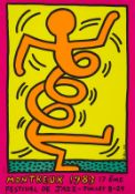 Keith HARING D'après - Montreux Jazz Festival - Affiche sérigraphique - 99 x 69 cm [...]