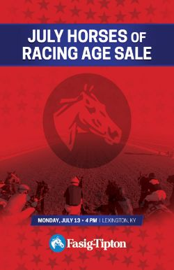July Horses of Racing Age Sale