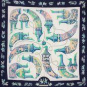 Hermès - Foulard Ritote - Foulard Ritote - Silk twill scarf designed by Karin [...]
