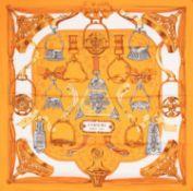 Hermès - Foulard Etriers - Foulard Etriers - Etriers silk twill scarf designed by [...]