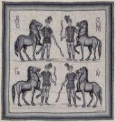Foulard Mosaique - in seta tonalità di grigi su fondo color panna, Hugo Grygkar, [...]