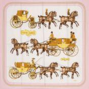 Hermès - Coach & Saddle silk twill scarf - Coach & Saddle silk twill scarf - Silk [...]