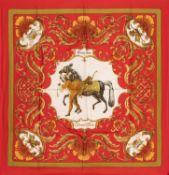 Hermès - Cheval Turc silk twill scarf - Cheval Turc silk twill scarf - Silk twill [...]