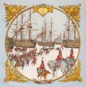 Hermès - Foulard Marine et Cavalerie - Foulard Marine et Cavalerie - Silk twill [...]