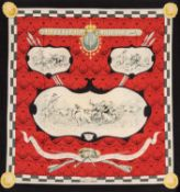 Hermès - Foulard Louveterie Royale - Foulard Louveterie Royale - Rare silk twill [...]