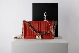 Chanel - Boy bag 25 cm - Boy bag 25 cm - Coral leather Boy bag, bicolor metal and [...]