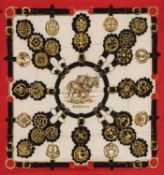 Hermès - Cuivreries silk twill scarf - Cuivreries silk twill scarf - Silk twill [...]