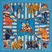 Hermès - Foulard Chocs en Plumes - Foulard Chocs en Plumes - Silk twill scarf, [...]