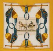 Hermès - Foulard Carrick à Pompes - Foulard Carrick à Pompes - Silk twill scarf [...]