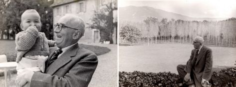 Henri Cartier-Bresson (1908-2004) - Paul Claudel, years 1940 - Two vintage gelatin [...]
