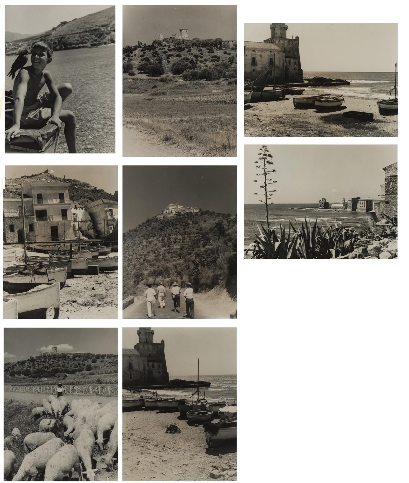 Giulio Parisio - Landscapes, years 1930/1940 - Eight vintage gelatin silver prints [...]