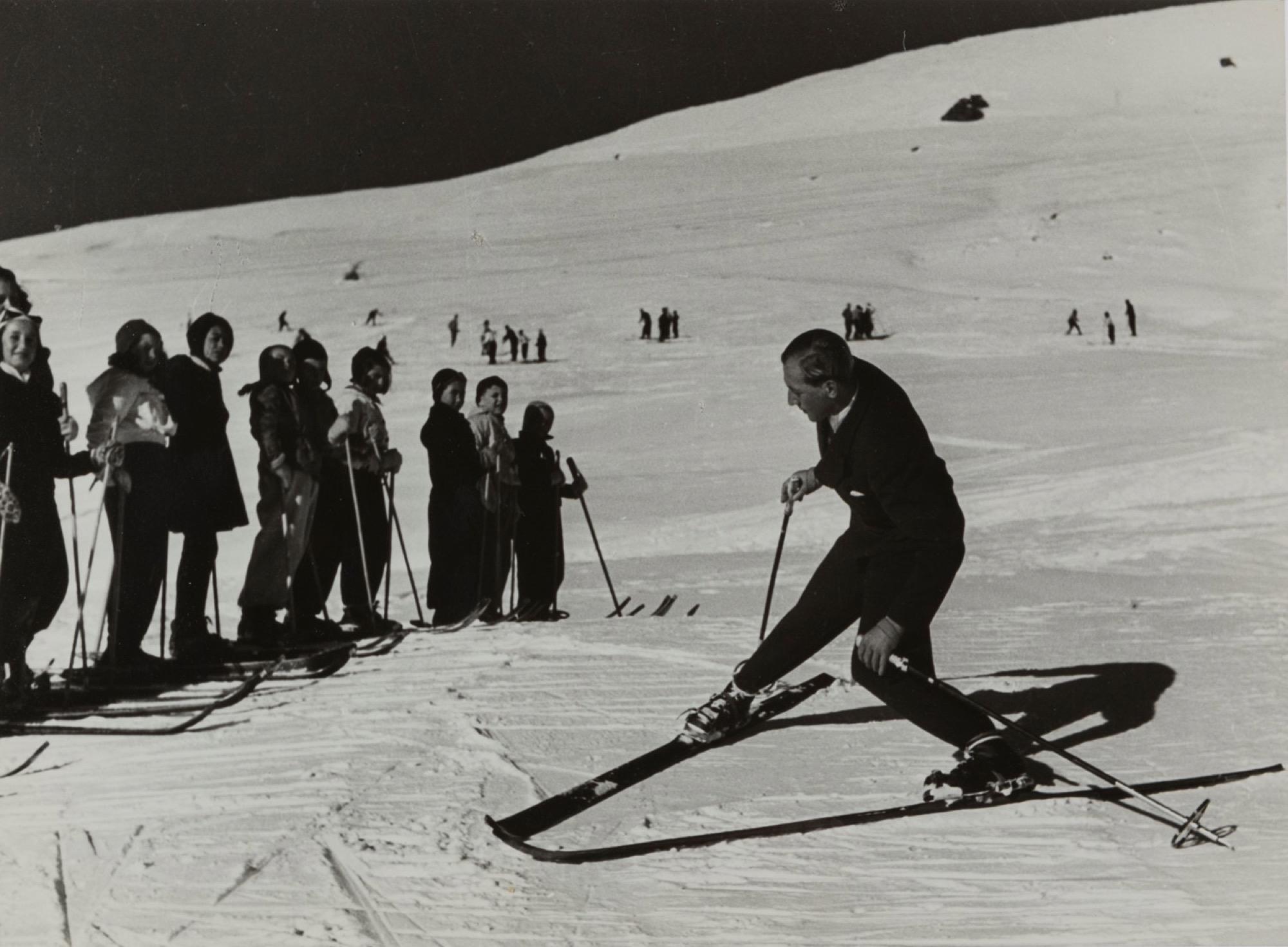 Riccardo Moncalvo (1915-2008) - Mountain, years 1940 - Vintage gelatin silver print [...]