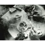 Frank Horvat (1928-2020) - Hands of cartoonist André Francois, Terin, Folon, Siné [...]