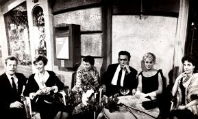 Anonimo - Mastroianni, Aimeé, Rainer, Fellini, Ekberg and Fourneux, years 1960 - [...]